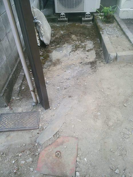 名西郡石井町で石やがれきの回収 施工事例