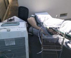 徳島市佐古八番町で洗濯機、ガスコンロ、椅子、こたつ布団などの不用品回収 施工事例紹介