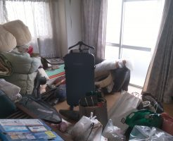 徳島市勝占町でソファー、布団など2トントラック1台程度の不用品回収 施工事例紹介