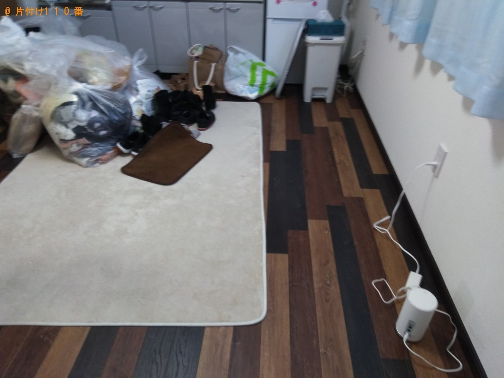 【徳島市庄町】食器棚、シングルベッドの回収・処分ご依頼