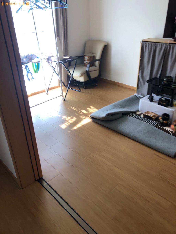 【徳島市】遺品整理に伴いタンス、カラーボックス、衣装ケース、仏壇、仏具等の回収