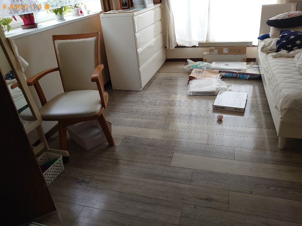 【徳島市】マットレス付きシングルベッドの回収・処分ご依頼