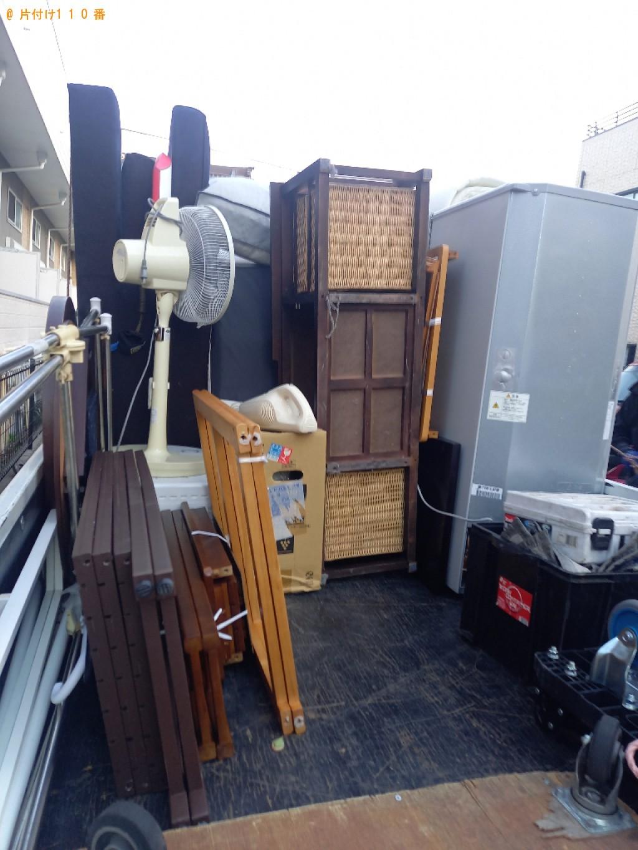 【徳島市】冷蔵庫、布団、扇風機、スタンドミラー、物干し等の回収
